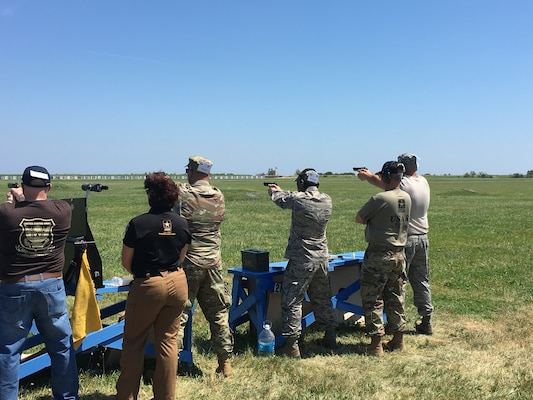 167th Airlift Wing marksmen particpate in National Matches at Camp Perry, July 2019. The month-long national shooting festival hosts more than 6,000 military and civilian participants who train and compete in a variety of competition including traditional pistol, smallbore, high-power rifle and long-range rifle.
