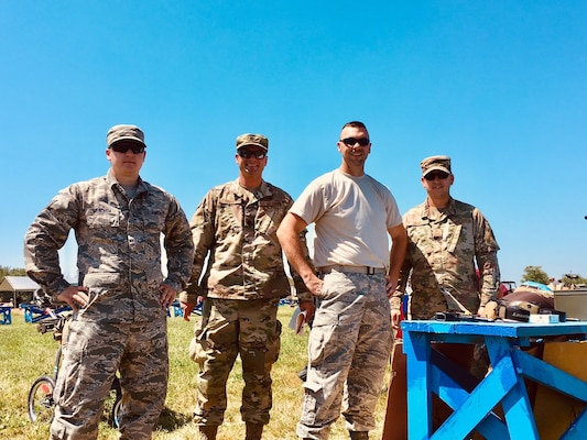 167th Airlift Wing marksman team members Staff Sgt. Derek Meacham, Master Sgt. Garey Diefenderfer, Master Sgt. James Barton and Senior Master Sgt. Michael Darby, participated in the National Matches at Camp Perry, July 2019. The month-long national shooting festival hosts more than 6,000 military and civilian participants who train and compete in a variety of competition including traditional pistol, smallbore, high-power rifle and long-range rifle.