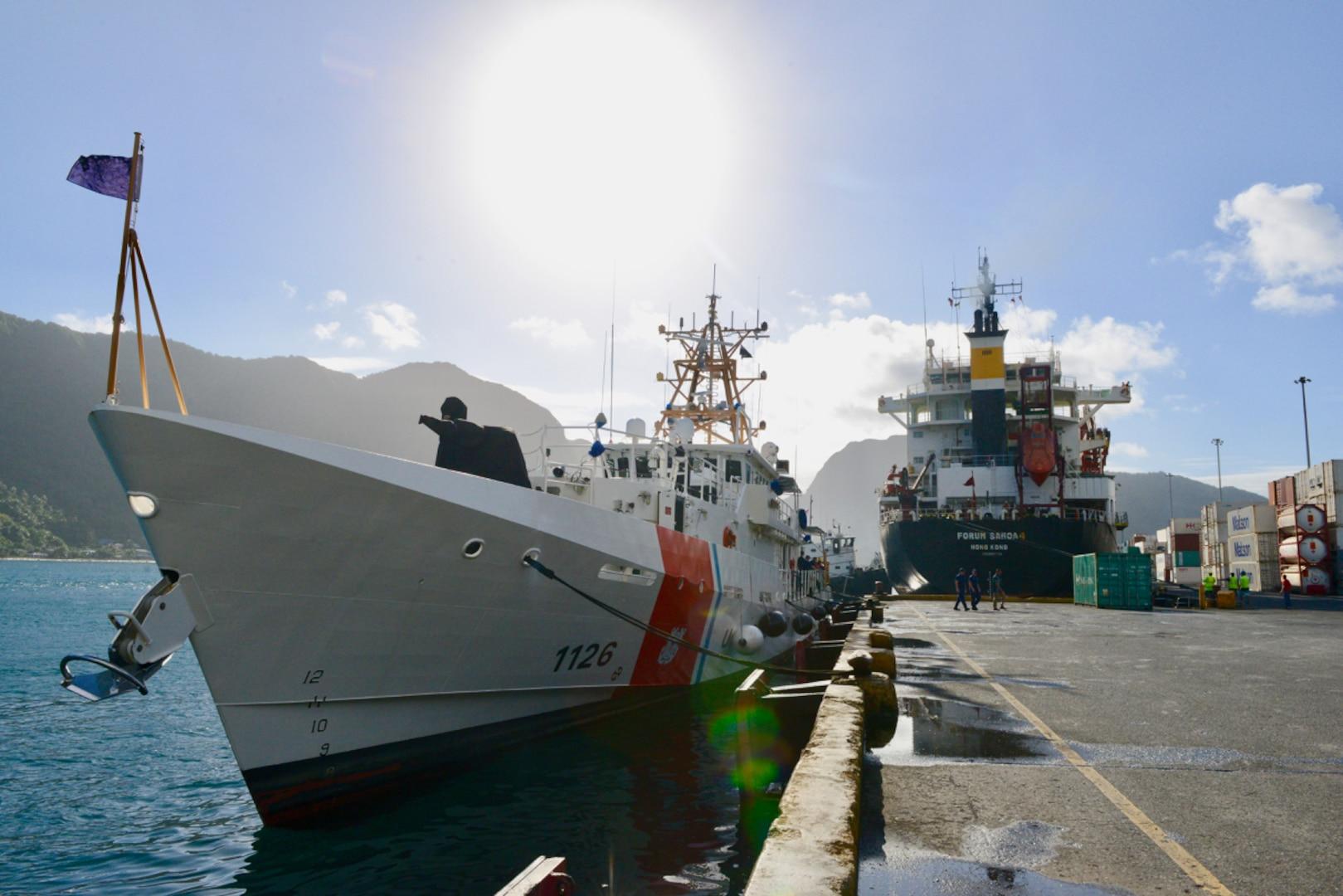 USCGC Joseph Gerczak (WPC 1126) Arrives in American Samoa on Patrol