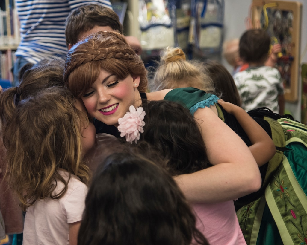 Staff Sgt. Erica Darcy, 614th Air Operation Center intelligence analyst, volunteers during a book reading at a local library June 24, 2019, in Vandenberg Village, Calif.