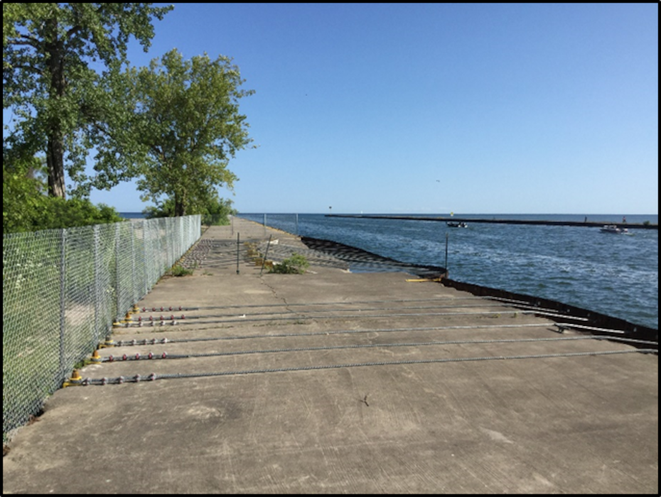 The U.S. Army Corps of Engineers, Buffalo District has completed temporary measures to secure the west pier at Little Sodus Harbor, located in Fair Haven, New York on August 1, 2019. Photograph taken August 6, 2019.