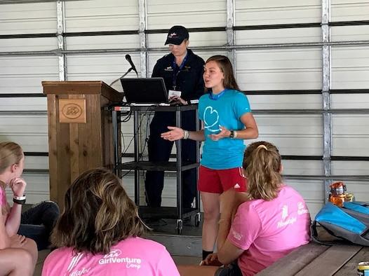 Avionics Airman inspires young women at GirlVenture aviation camp