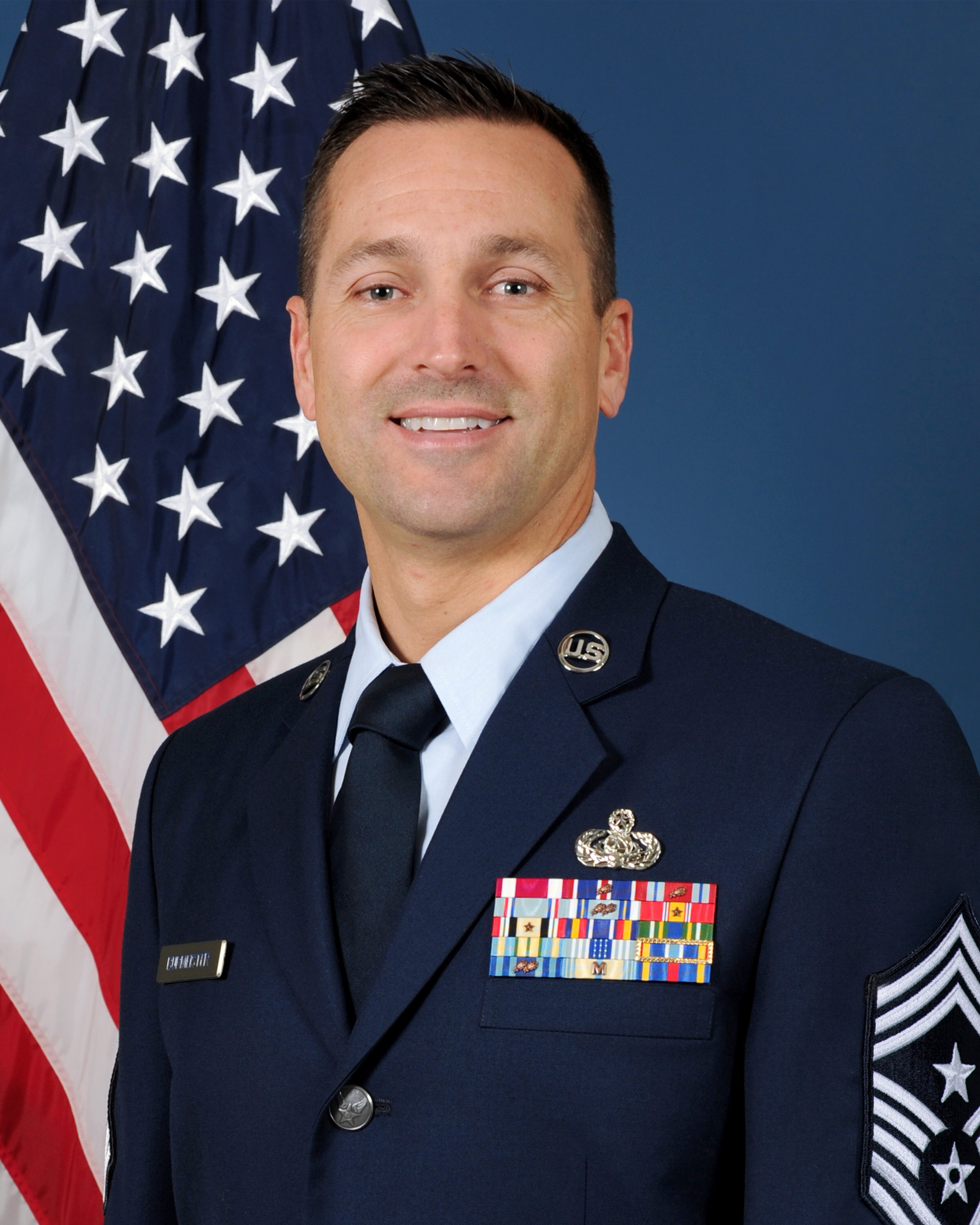 349 AMW Command Chief Master Sgt. jimmy Burmeister