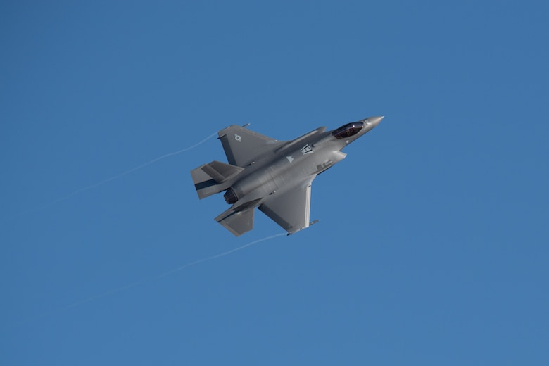 An F-35A Lightning II flies over Hill Air Force Base, Utah. (U.S. Air Force photo by Cynthia Griggs)