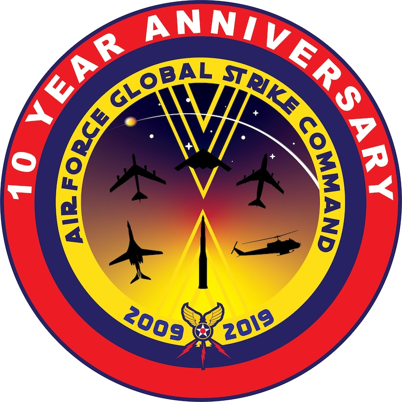Air Force Global Strike Command celebrates its 10-year anniversary Aug. 7, 2019. The command was activated in 2009 as part of ongoing efforts to reinvigorate the nuclear enterprise.