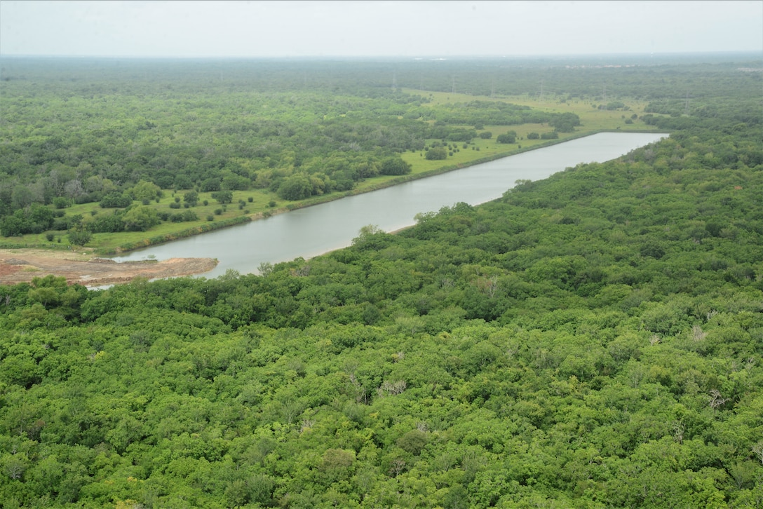 Aerial view of Addicks and Barker Reservoir, photo taken by Francisco Hamm.