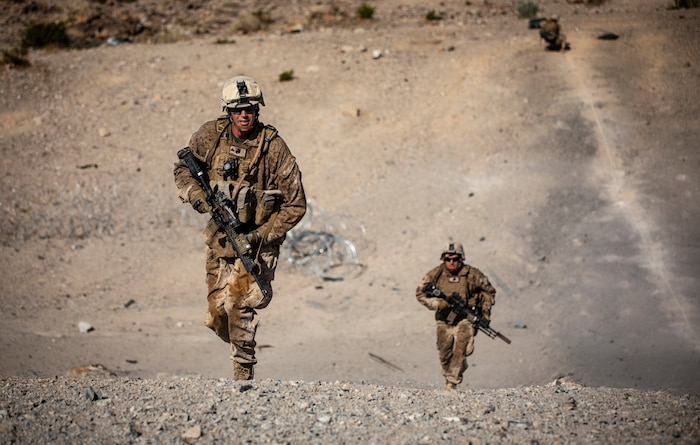 Reserve Marines Train at Range 400 during ITX 5-19
