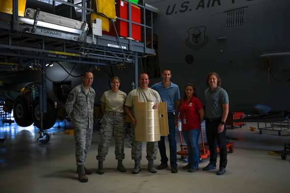 On Aug. 5, 2019, the first Advanced Additive Manufacturing part to be fitted on a C-130H Hercules aircraft, a utility hydraulic panel, was installed on one of Youngstown Air Reserve Station's C-130s.