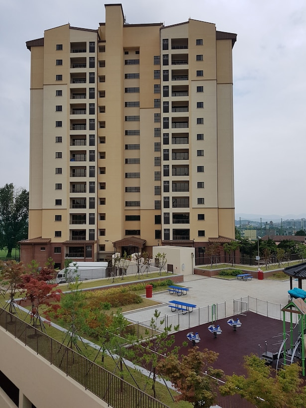 Camp Walker, South Korea housing project which earned the U.S. Army Corps of Engineers, Far East District, a Leadership in Energy and Environmental Design (LEED) Gold Certification by the U.S. Green Building Council and enhanced commissioning due to its sustainable design and development.