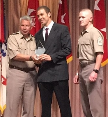 Pittsburgh District's Josh Kaufman, chief of contracting, was recognized as the U.S. Army Corps of Engineers' Civil Responder of the Year, Aug. 1.