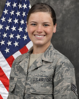 Senior Airman Molly Hageman, 445th Maintenance Squadron crew chief, is the 445th Airlift Wing Airman of the Quarter, second quarter.