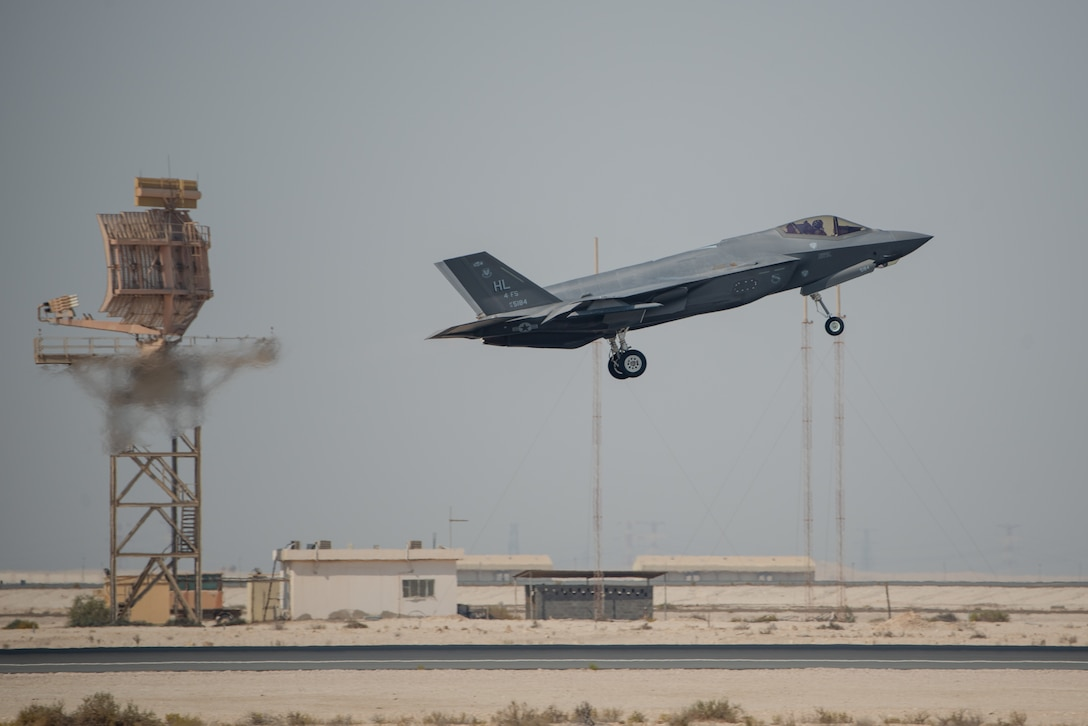 A photo of an F-35A