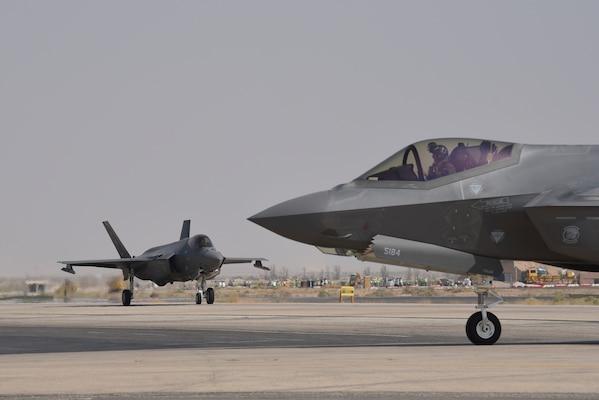 Two F-35A Lightning IIs
