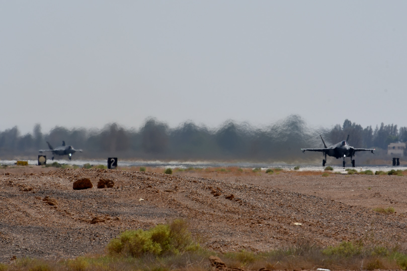 F-35As prepare to takeoff