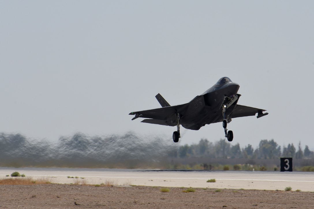 F-35A taking off