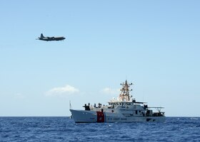 Fast response cutter Joseph Gerczak and international partner agencies conduct a search and rescue (SAR) exercise July 24, 2019, off the coast of Oahu, Hawaii, to improve SAR response capability and capacity throughout the pacific.