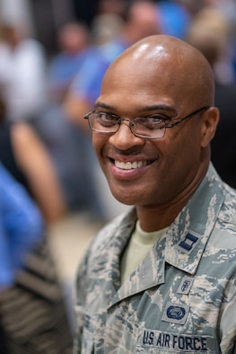 Capt. George Bates, assistant officer in charge for Operation Coal Country in Clay County, Kentucky, is assigned to the 514th Aeromedical Staging Squadron, 514th Air Mobility Wing, Joint Base McGuire-Dix-Lakehurst, New Jersey. Bates was personally recognized for his role in OCC by Vice President Mike Pence and his six years active and 19 years reserve service in the U.S. Air Force at a press event held at East Kentucky University, Manchester campus in Kentucky. Pence continued to distinguish Bates for his three deployments to the Middle East at the event. Innovative Readiness Training (IRT) is a collaborative program that leverages military contributions and community resources to multiply value and cost savings for participants.