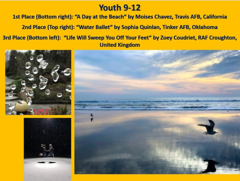 2019 Air Force Photo Contest winners in the Youth 9-13 category