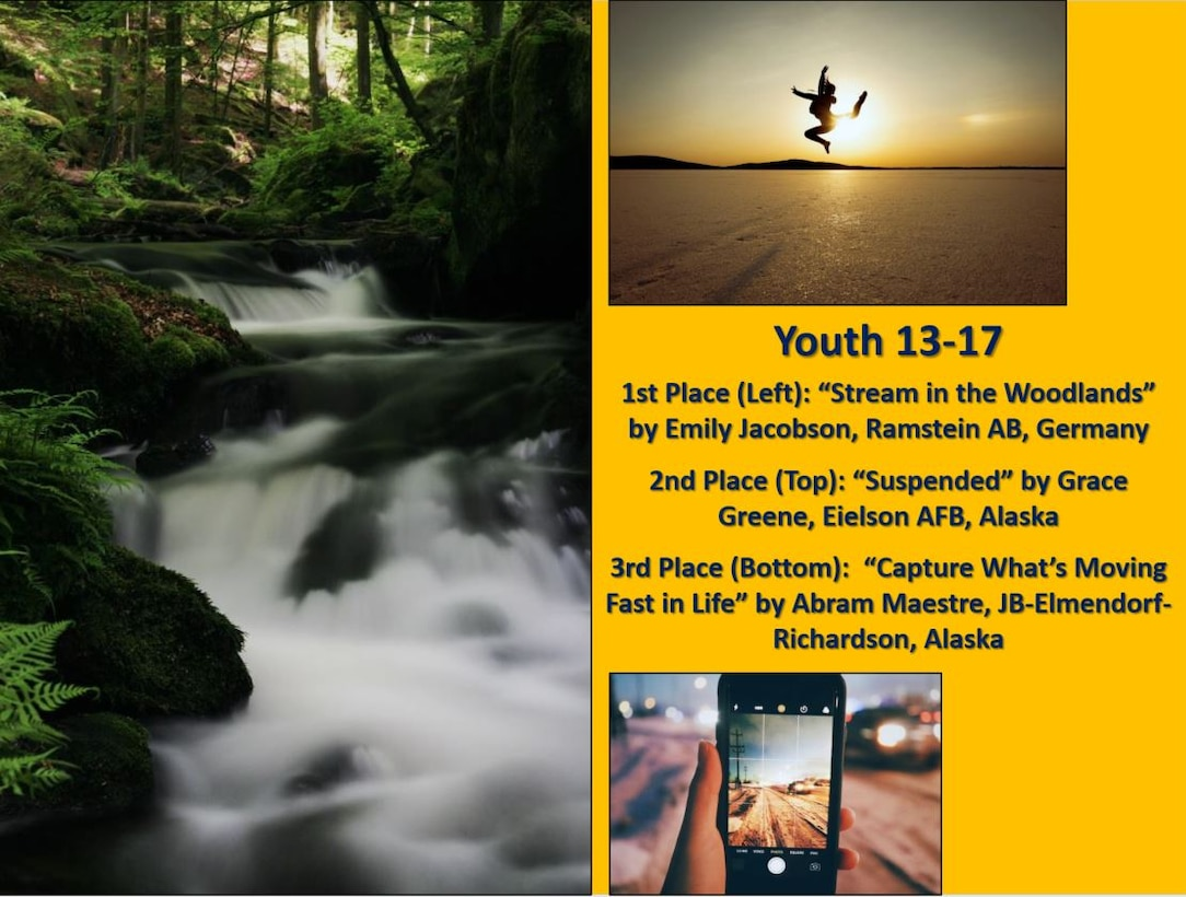 2019 Air Force Photo Contest winners in the Youth 13-17 category
