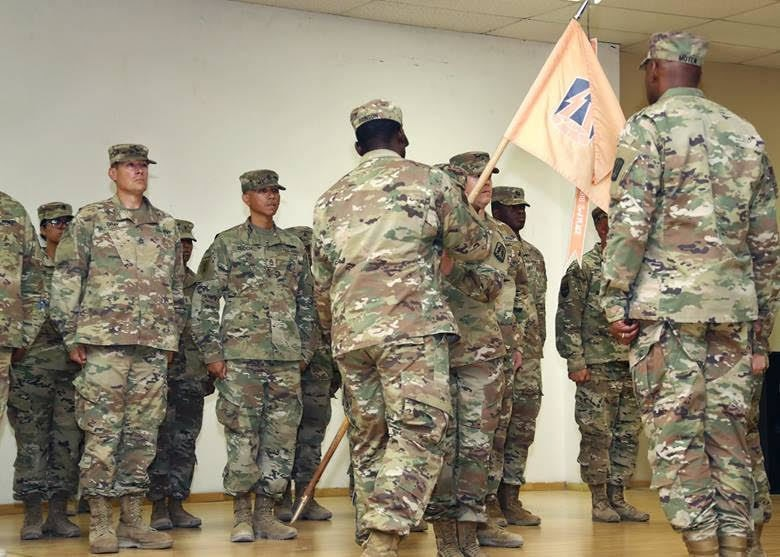 Combined Change of Command and Change of Responsibility Ceremony Brings New Leadership to Headquarters and Headquarters Company, 335th Signal Command (Theater) (Provisional)