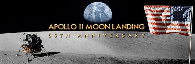 Apollo 11 moon landing 50th anniversary. (U.S. Air Force graphic/Vernon Greene)