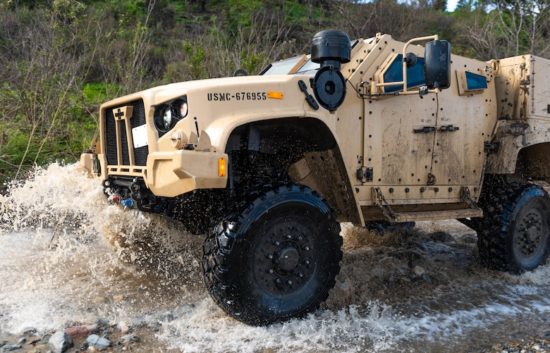 The Marine Corps' Joint Light Tactical Vehicles has achieved initial operational capability. The JLTV consists of multiple platforms capable of completing a variety of missions while providing increased protection and mobility for personnel across the Marine Corps. (Official Marine Corps photo by Sgt. Timothy R. Smithers)