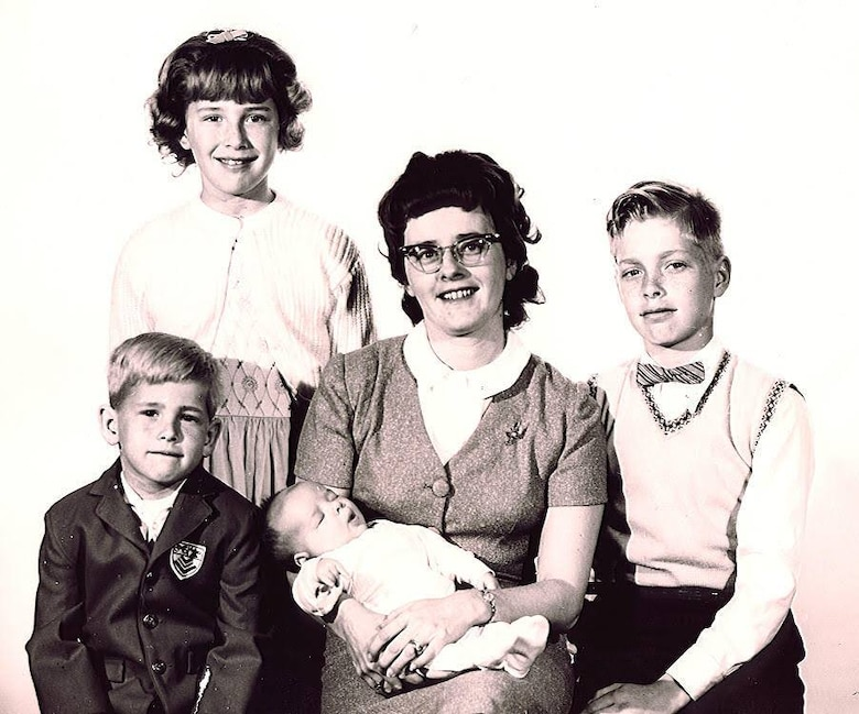 Mary Ann Kibbey poses with her four children, Terry, Dave, John and Richard, in the late 1960's. (Photo courtesy of Richard Kibbey)