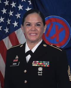 Command Sgt. Maj. Maria A.J. Baird, 9th Mission Support Command, Command Sergeant Major