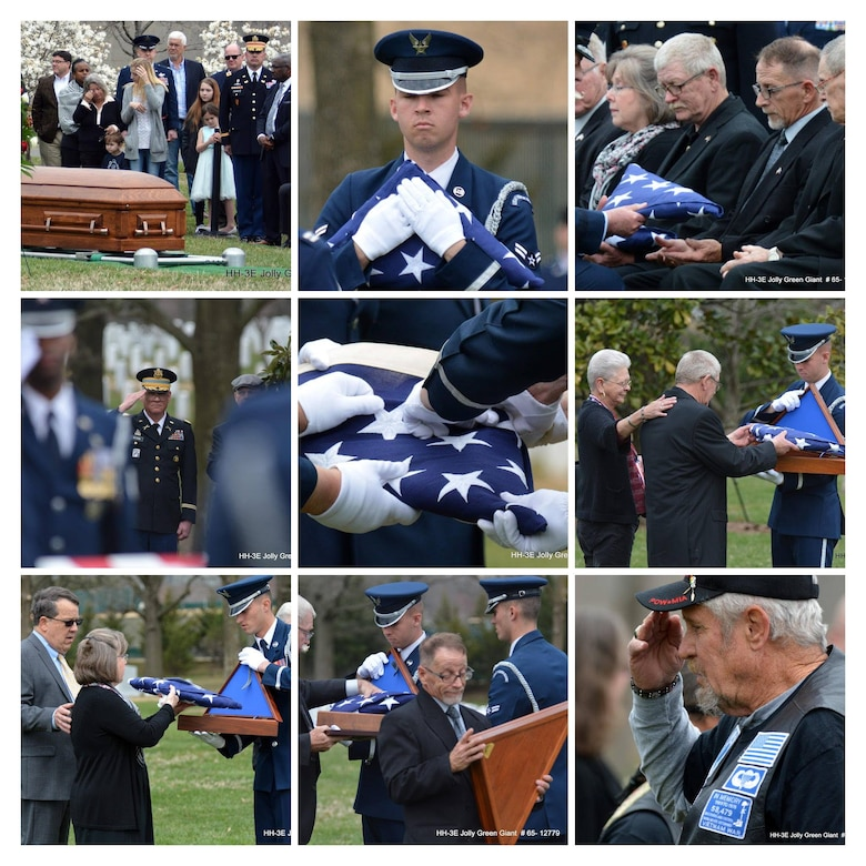 Col. Richard 'Dick' Kibbey's life and heroism was celebrated March 29, 2019, at Arlington National Cemetary, Va. Dick was a pilot in Vietnam when his helicopter was shot down and he was listed as missing in action for over 50 years before his remains were returned to the United States after being found by a local farmer. (Photos courtesy of Mike Garcia)