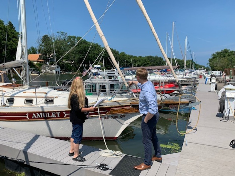 U.S. Army Corps of Engineers, Buffalo District employees from the Planning Management team have been out in the field this summer surveying marina owners and operators from 6 harbors in Lake Ontario between Wilson Harbor, Wilson, NY and Little Sodus Bay Harbor, Fair Haven, NY, August 2019.