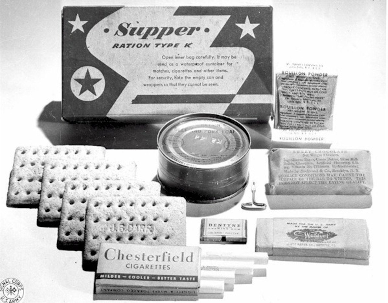 K-Rations used during World War II.