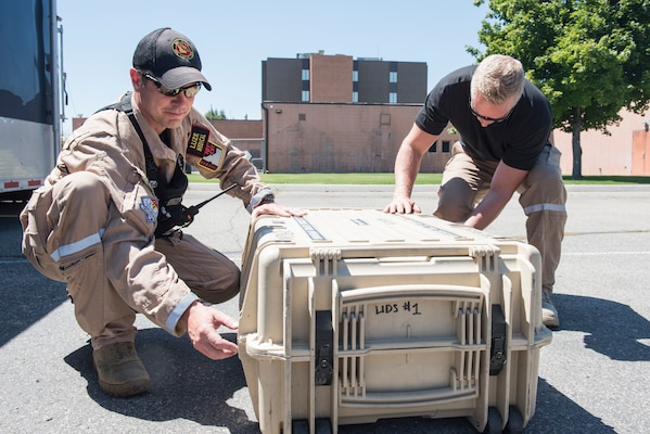 Idaho National Guard's 101st WMD CST trained with the Nampa Police Department. The 101st has the capabilities to retrieve and test chemical, biological, radiological or nuclear agents. The 101st and the Nampa Police Department have responded to real-world missions together in the past.