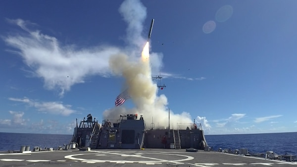 IMAGE: A Tomahawk land attack missile is launched from the Arleigh Burke-class guided-missile destroyer USS Curtis Wilbur (DDG 54) during a May 2019 live-fire demonstration. Naval Surface Warfare Center Dahlgren Division (NSWCDD) institutionalized its Technical Excellence Framework to make a difference in the Fleet in terms of capability, quality, security and safety of warfare mission critical products – including system development and products supporting the Tomahawk land attack missile – the command announced, Aug. 13, 2019. Dahlgren's Technical Excellence Framework - a set of project execution requirements, training, internal project reviews, technical excellence metrics and data-driven continuous improvement - applies to all NSWCDD technical programs and projects. Over the course of seven years, the command's Chief Engineer Council worked to achieve their vision of institutionalizing technical excellence, rigor and discipline in order to meet the primary goal of consistently and efficiently developing safe, secure, reliable, maintainable, and high-quality products and systems.