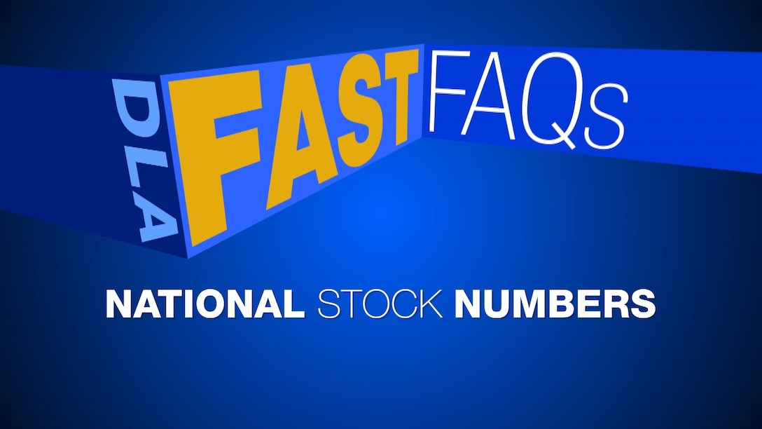 DLA fast FAQs National Stock Numbers graphic.