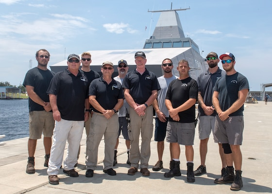 The Sea Fighter (FSF-1) team from Naval Surface Warfare Center Panama City Division, rescued three individuals after their vessel began taking on water July 10.