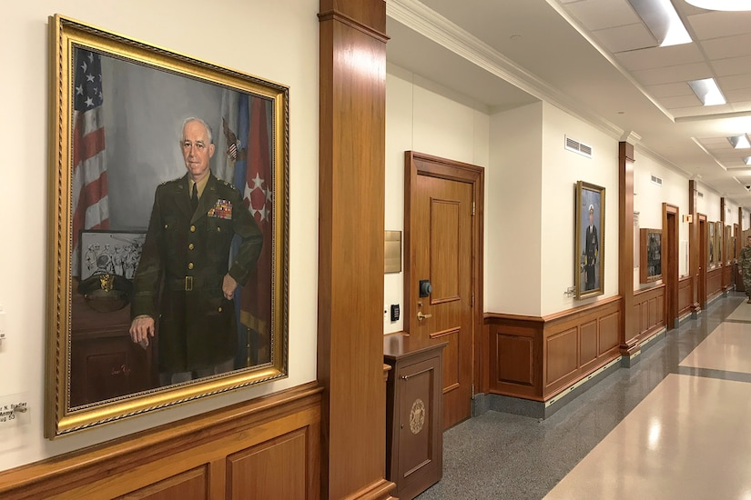 Portrait in hallway.