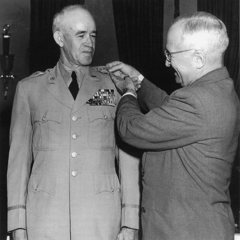 U.S. president promotes soldier.