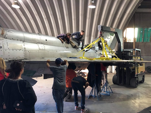 Staff Sgt. Clara Mailloux of the 446th Maintenance Squadron, led a team as they reconstructed the aircraft's major aesthetic assemblies such as fuselage, tail and wings. The project will eventually help create jobs to over 70 South African women and cover their children's education costs.  