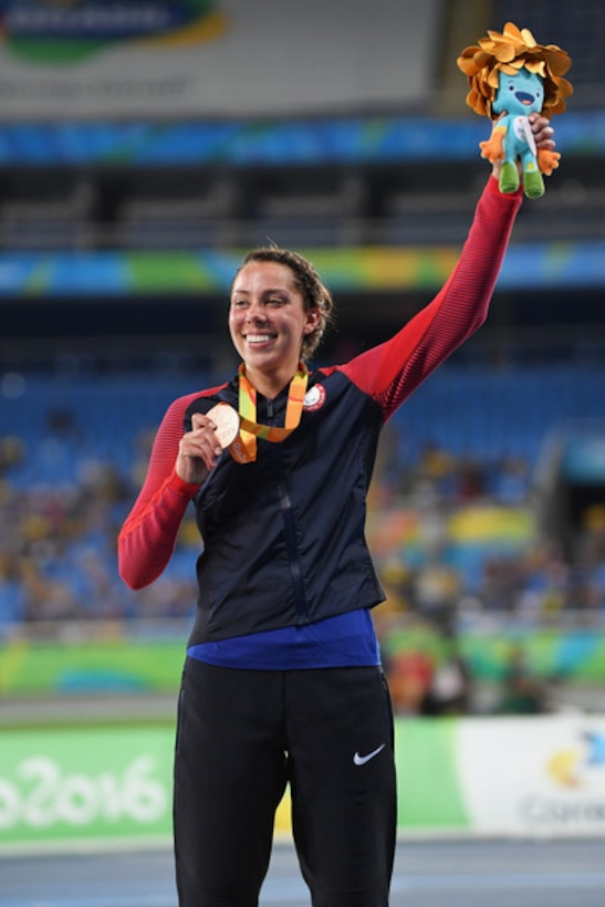 American Paralympic Gold Medalist Grace Norman is scheduled to be the guest speaker for the 23rd Air Force Marathon and will be providing instruction at a free mobility clinic for lower extremity amputee runners. The clinic will be offered at the marathon expo on Thursday, Sept. 19 from 4:30 to 6 p.m. and on Friday, Sept. 20, noon to 1:30 p.m. in the Berry Room at the Wright State University Nutter Center. (Courtesy photo)