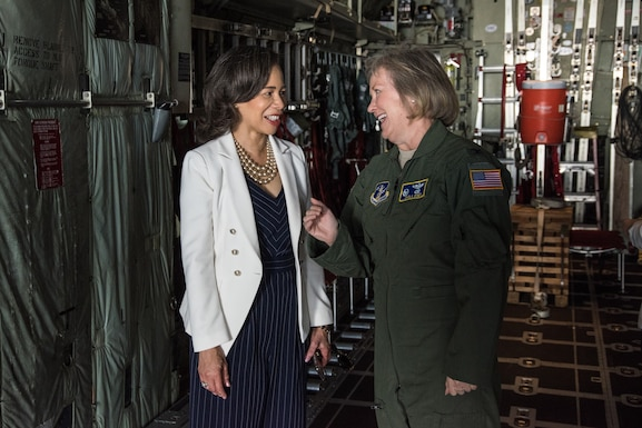 Congresswoman Lisa Blunt Rochester visits the 166th Airlift Wing