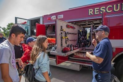 Inspiring a new generation: B&G Club visits Miramar firefighters