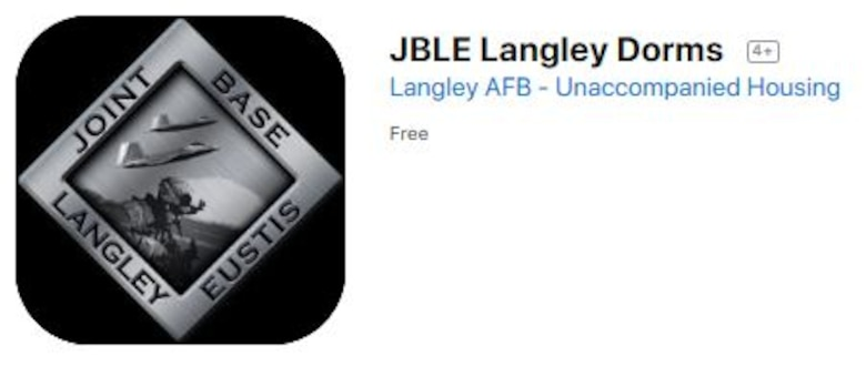 The JBLE Langley Dorm app is available to download for free to any members on Joint Base Langley-Eustis.