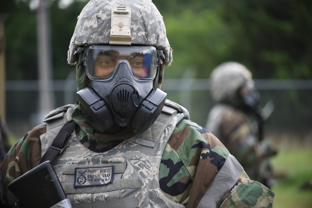 An Ability to Survive and Operate training exercise took place at the Glenwood Training Area during the week of June 18-22, 2018, Tinker Air Force Base, Oklahoma. The training was geared toward allowing military members with the potential to deploy to overseas locations to experience military operations in a hostile environment while continuing to do their respective jobs. (U.S. Air Force photo/Greg L. Davis)