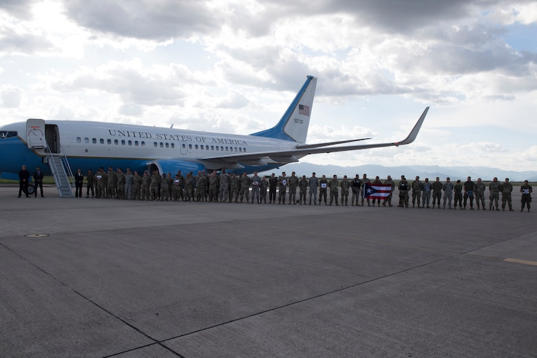 U.S. service members line up to meet congress representatives from their home state, Aug. 10, 2019, at Soto Cano Air Base, Honduras. Representatives from various states visited service members during a visit to Honduras, accompanying the Speaker of the House Nancy Pelosi. (U.S. Air Force photo by Staff Sgt. Eric Summers. Jr.)
