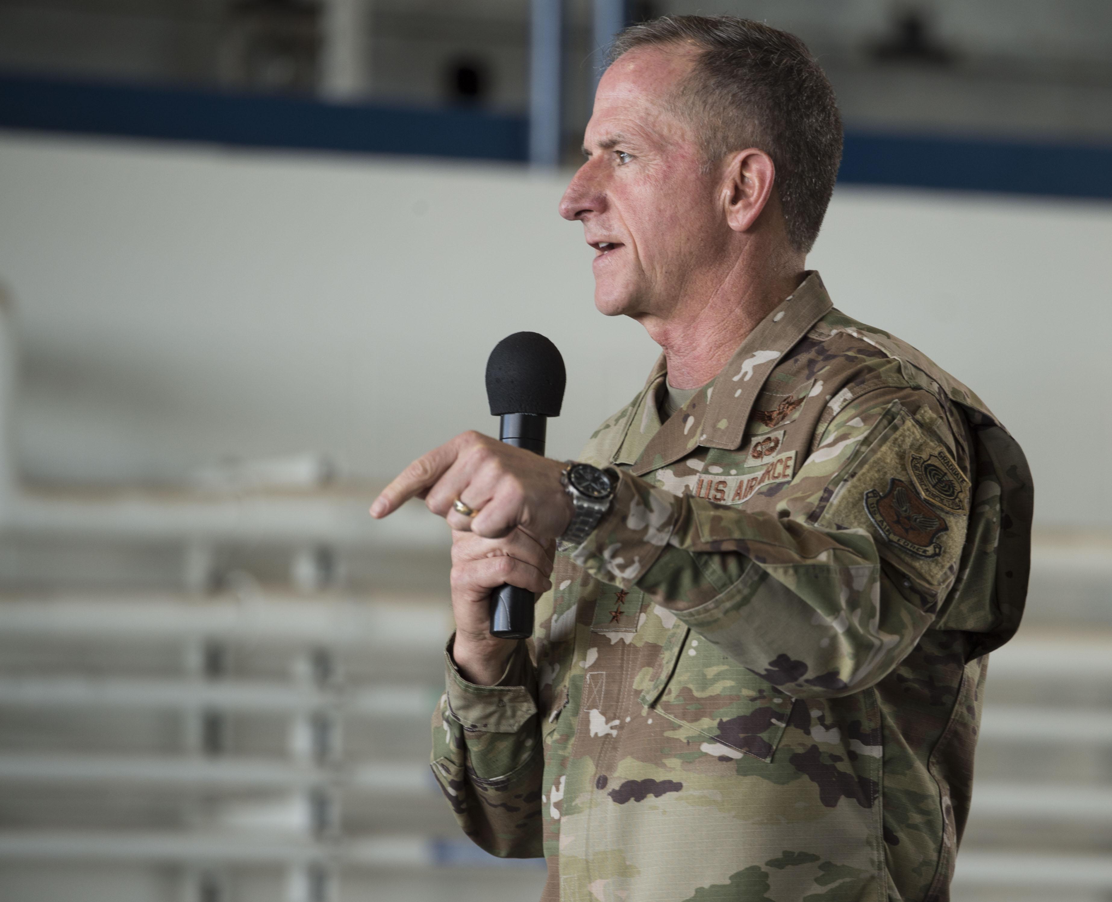CSAF visits JBPHH, shares priorities with Sky Warrior team