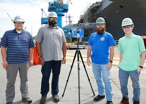 Puget Sound Naval Shipyard and Intermediate Maintenance Facility (PSNS&IMF) and Norfolk Naval Shipyard (NNSY) partnered to bring laser scanning technology to America's Shipyard.