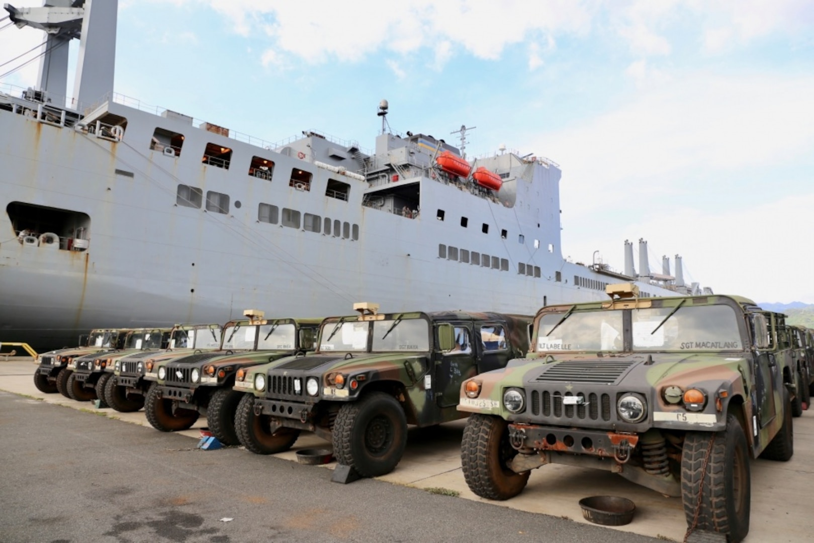 NAVSUP FLC Pearl Harbor Supports DoD's Transportation Management System Prototype Deploying Army Cargo