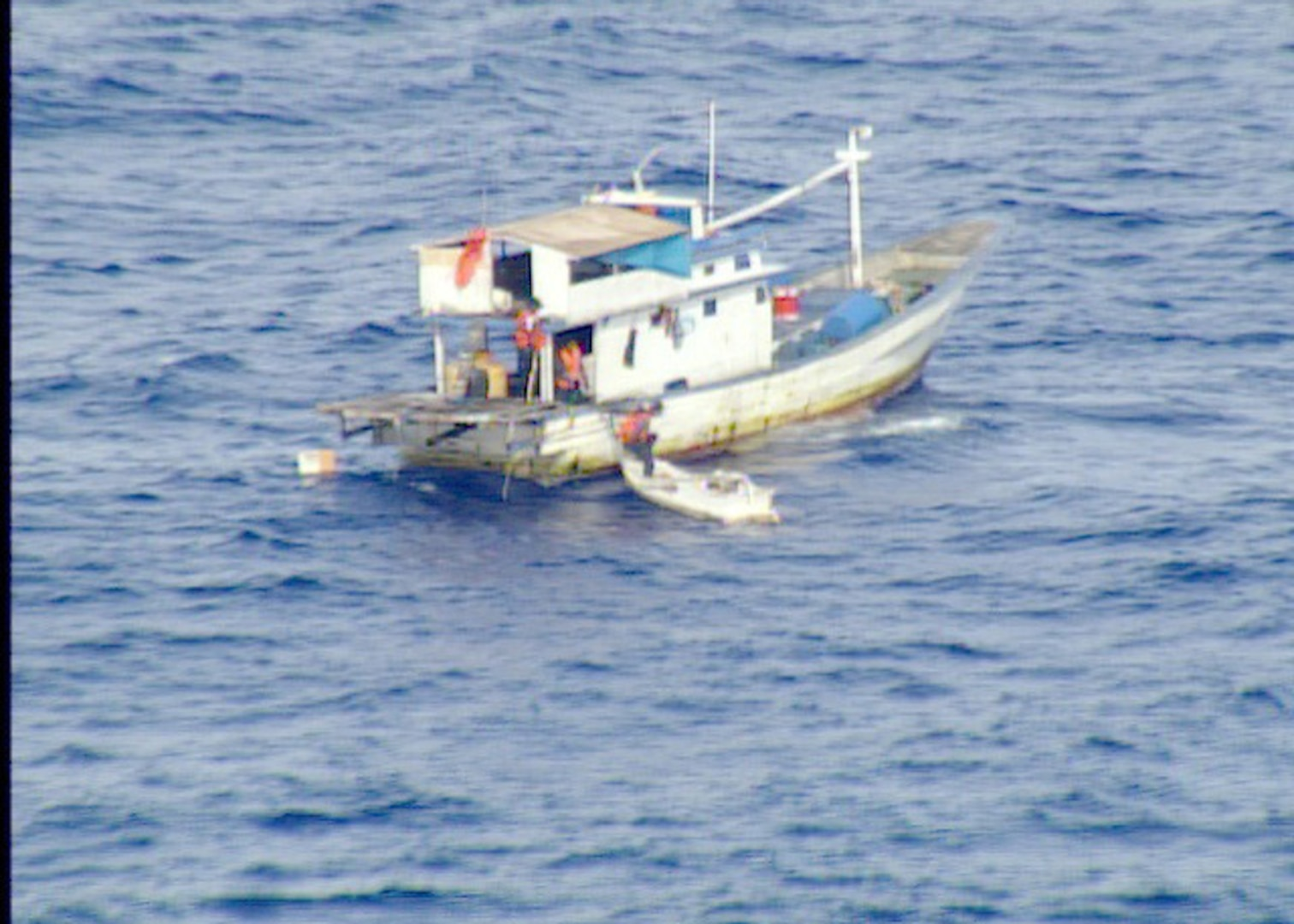 Coast Guard, Partners Rescue 8 from Missing Fishing Vessel in the Pacific North of Palau