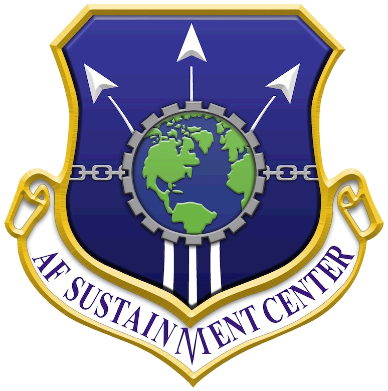 Air Force Sustainment Center shield graphic