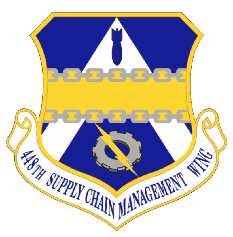 448th Supply Chain Management Wing shield graphic